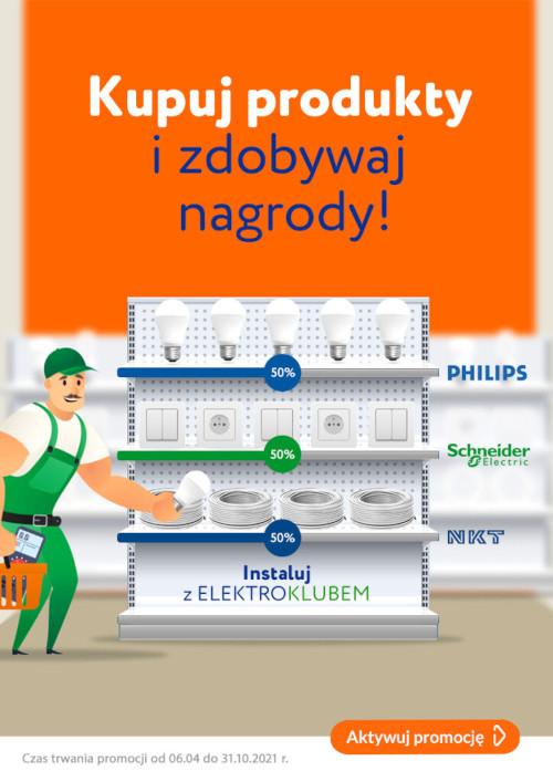 Kupuj i zdobywaj nagrody z elektroklubem - ulotka informacyjna