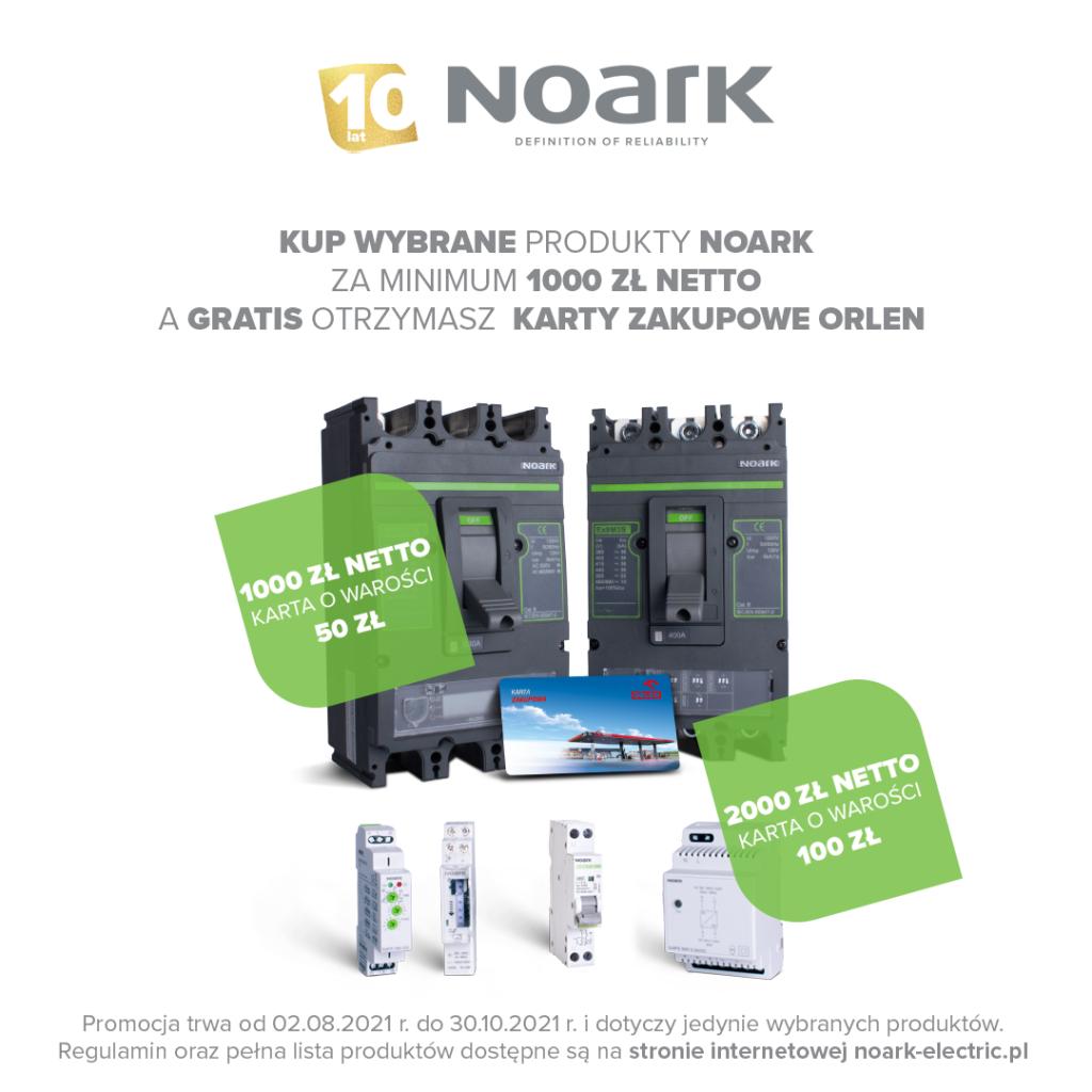 Kup wybrane produkty NOARK i odbierz karty zakupowe Orlen - ulotka informacyjna