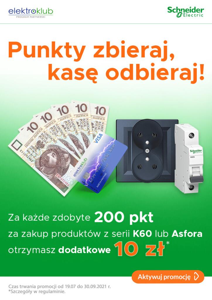 Schneider Electric - punkty zbieraj, kasę odbieraj - ulotka promocyjna
